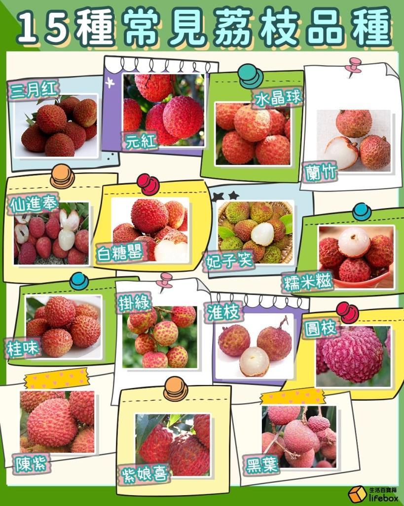 15個常見荔枝品種