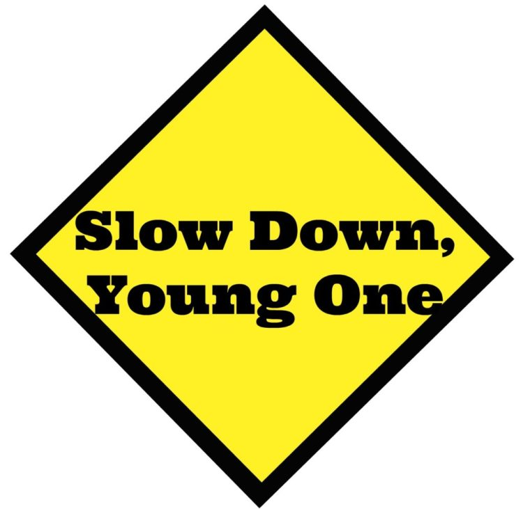 growing, baby, slow down, caution sign