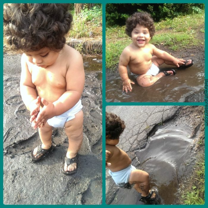 play, playing, mud, learning, fun, summer, baby, 14 month