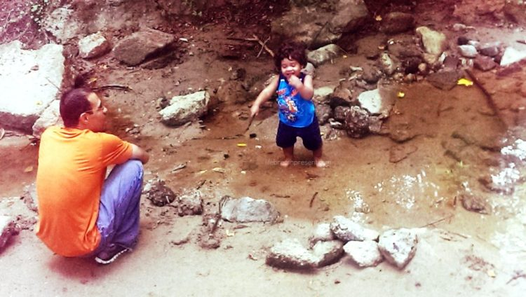 play, stream, water, family, fun, park, 17 months, growing up, growing, baby, playing