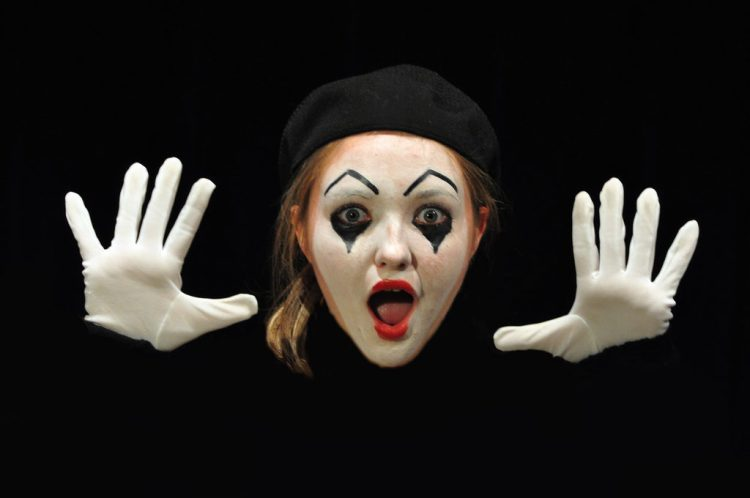anxiety, clown, mime, surprise