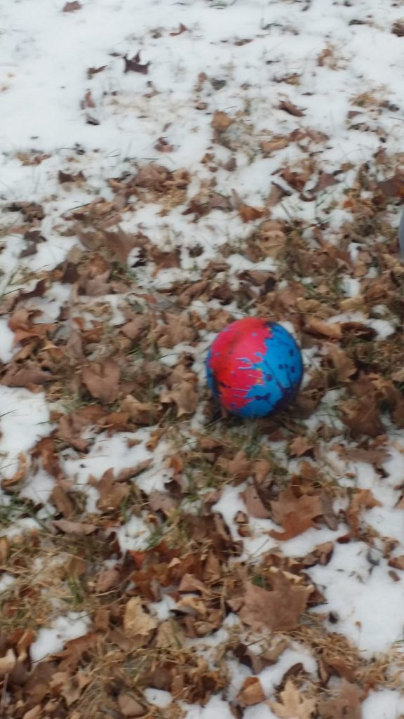 photography, ball, color, snow, winter, play, playing