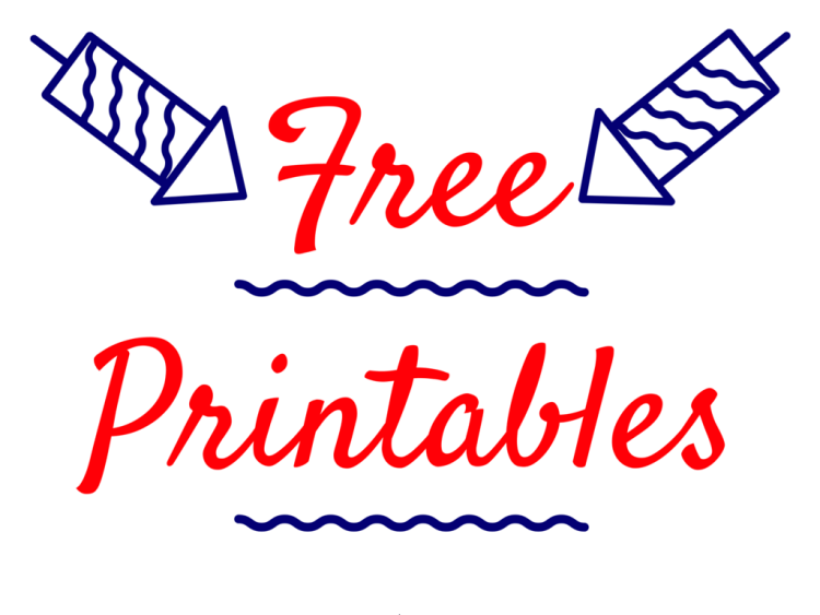 4th of july, july, independence day, printables