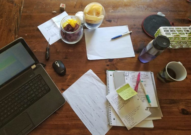 working, work, workspace, blogging, writing, table, morning, routine, productivity