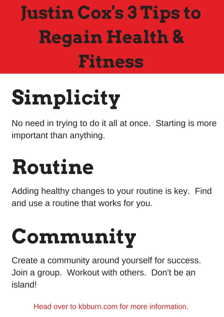 kettlebell burn, logo, kettlebell, workout, exercise, fitness, health, wellness, justin cox, tips, tricks, community, simplicity, routine, printable
