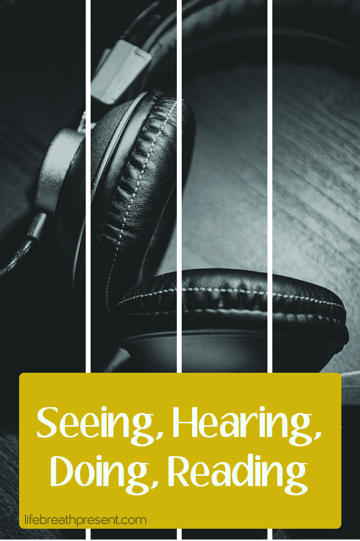 headphones, see, hear, do, read, seeing, hearing, doing, reading