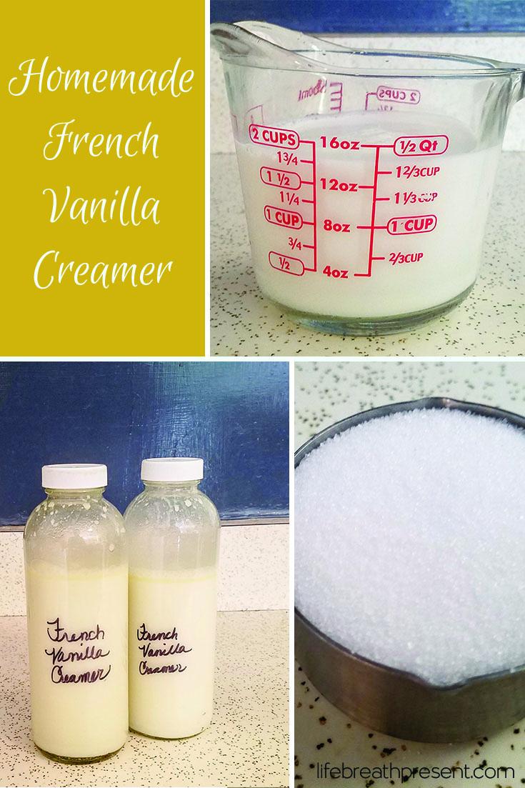 homemade french vanilla coffee creamer, homemade, coffee creamer, french vanilla, recipe