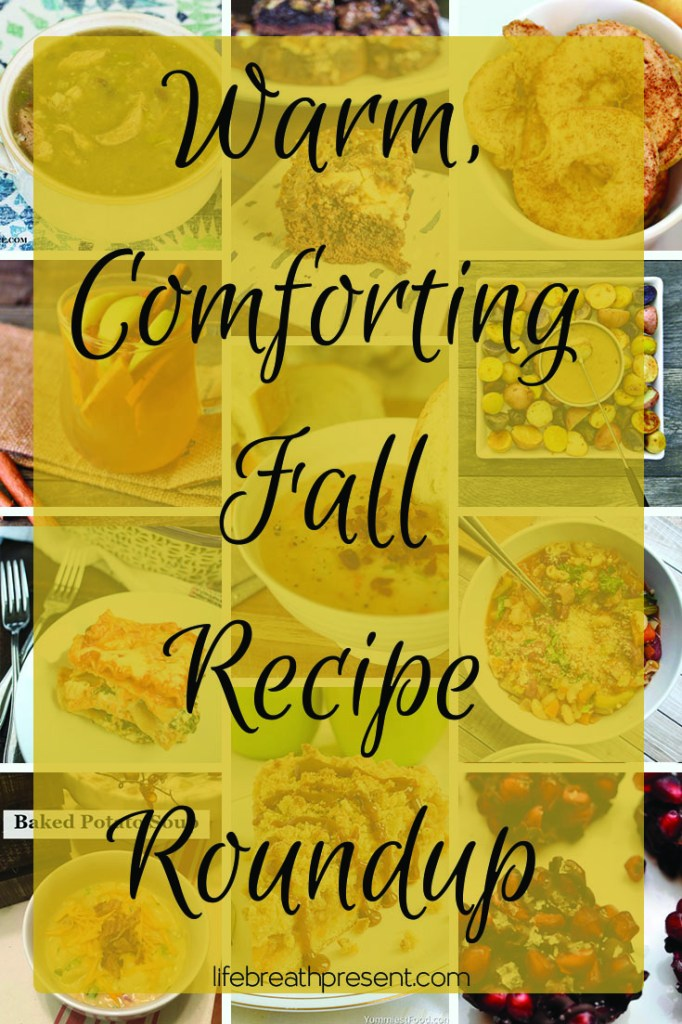 warm, comforting, food, recipe, roundup, recipe roundup, fall, sweet, tasty, flavor, soup, cider, cake, brownie, caramel, potatoes, lasagna, apple, vegetables, chocolate, pomegranate