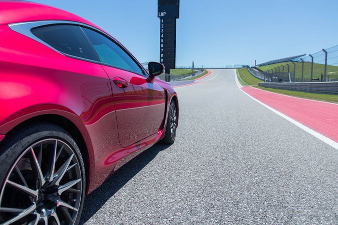 Lexus RCF on COTA F1 Track