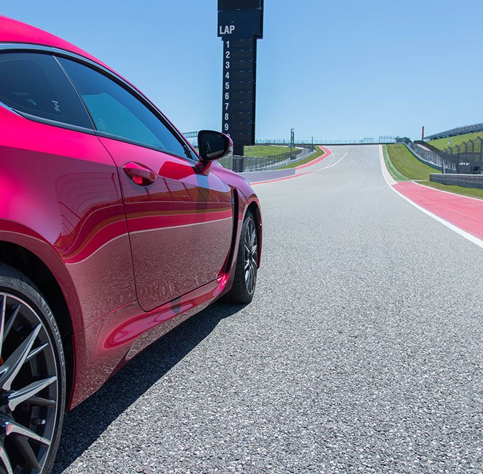 What it's Like to Race the Lexus RCF on a F1 Track + 360 Video