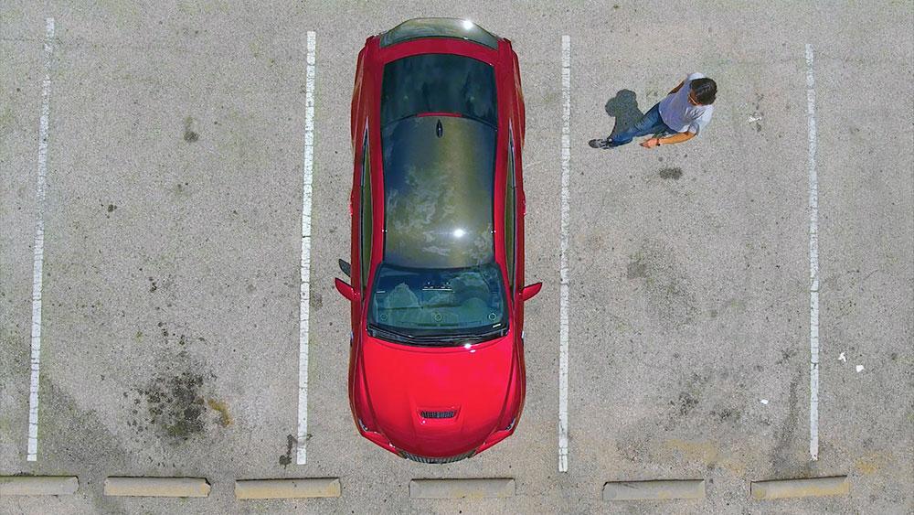 Drone Shot of Lexus RC F