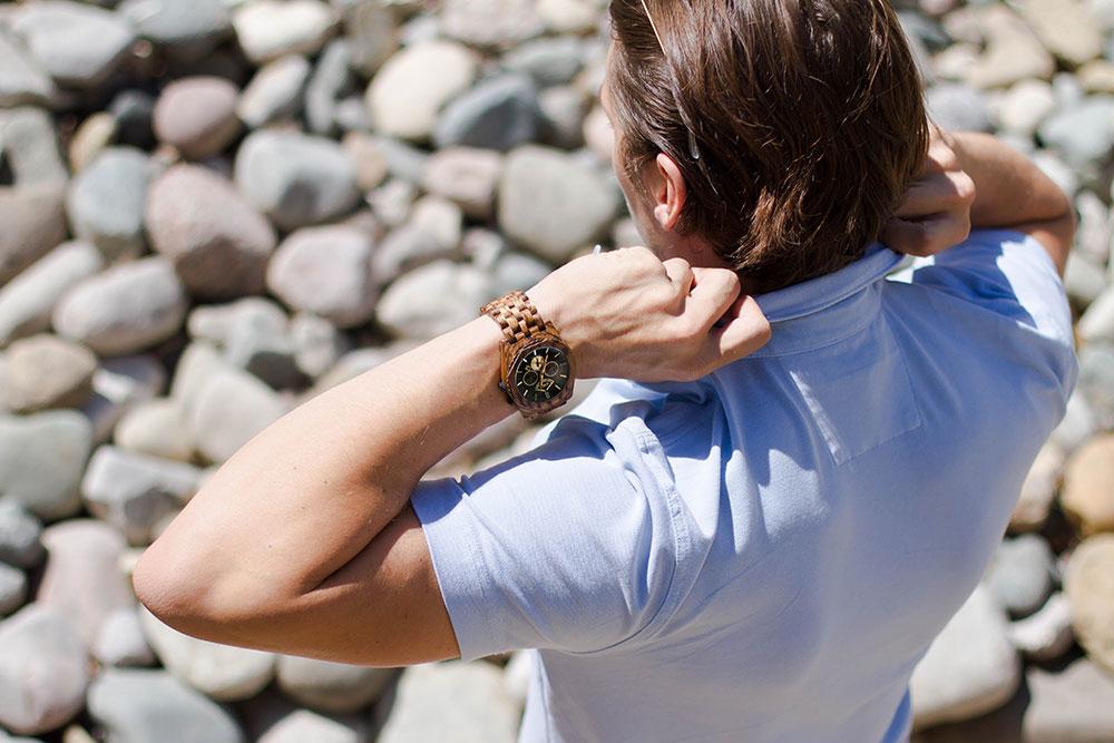 Jord Wood Watch Black Chronograph