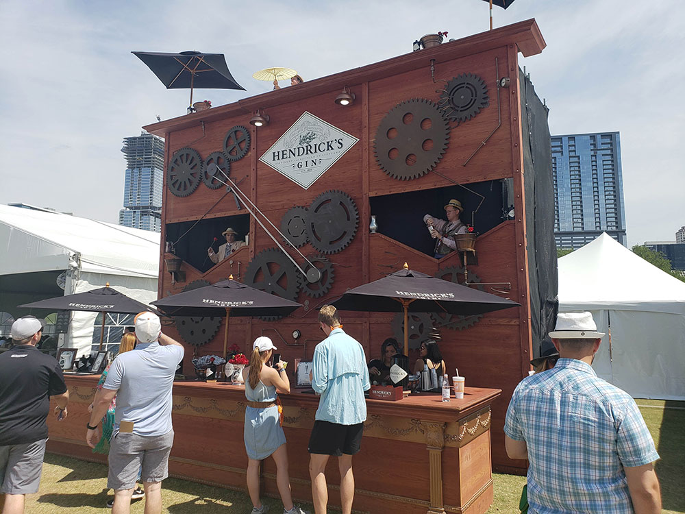 Hendrick's Gin at Austin Food and Wine