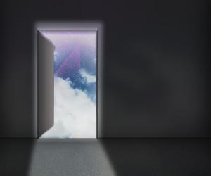 moon into door open scorpio sky background hiding transformation doorways doors sign there reading nothing