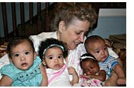 Kathy DiFiore with babies