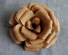 burlap-flower-making