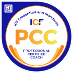 Picture of badge for ICF Professional Certified Coach