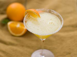 Valentine's Day Martinis: Rosemary Lemon Drop Martini & Orange Blossom Martini