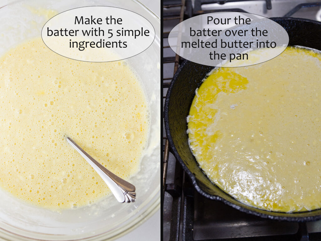 process shots for how to make this breakfast