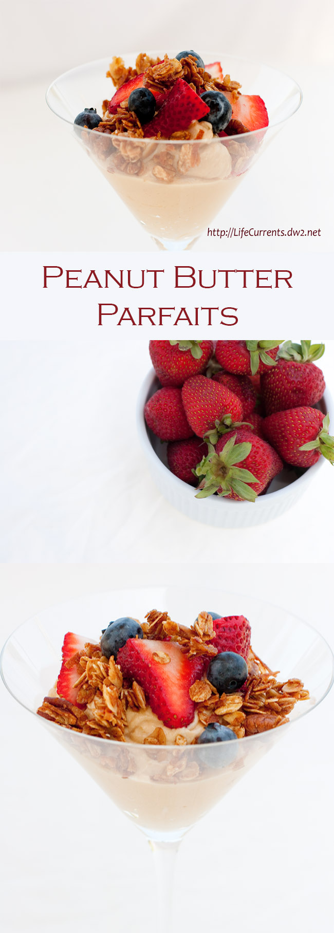 Peanut Butter Parfaits Recipe - a nice healthy breakfast that can be a grab and go
