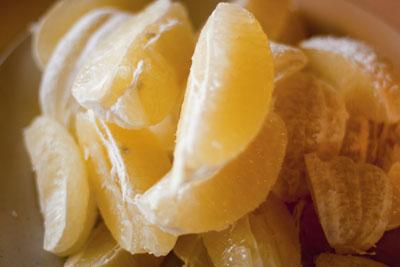 Lemon Peel - candied and roasted - the lemons