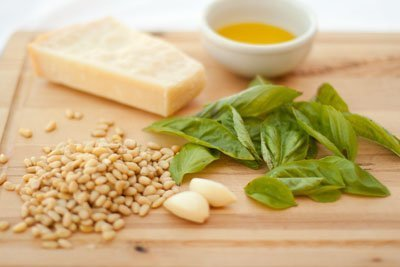 Traditional pesto made with simple natural ingredients