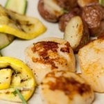 vanilla dusted scallops