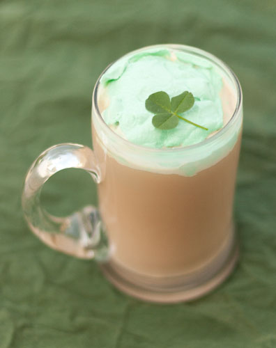 Kiss of the Irish Coffee with green whipped cream by Life Currents