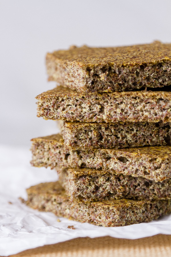 A stack of slices of Flax Seed Bread a gluten free bread for Gluten-Free Baking & Baked Goods