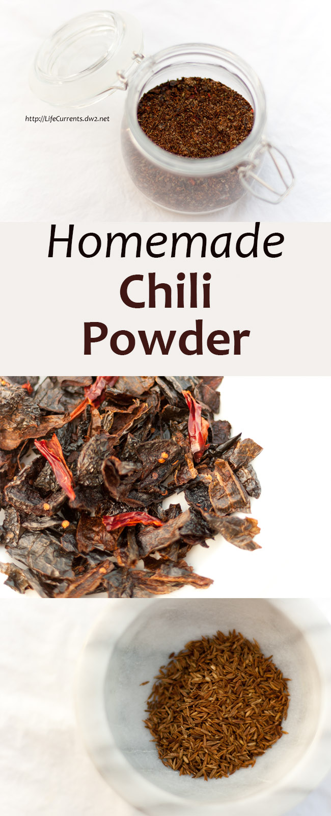 Homemade Chile Powder using dried chiles