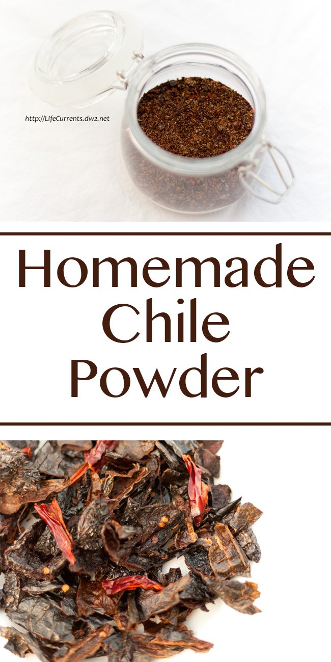 Homemade Chile Powder using dried chiles is so good, you'll want to use it on everything!