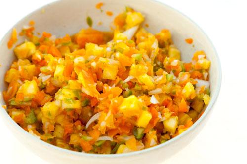 pineapple salsa Soy Glazed Barramundi with Pineapple Salsa Served Over Black Rice https://lifecurrentsblog.com #fish #barramundi #healthy