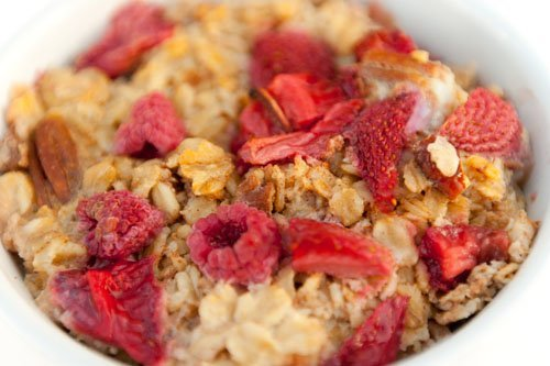 The menu for Mother's Day Breakfast 2011: Coconut French Toast with Butter Pecan Syrup Baked Oatmeal with Strawberries and Raspberries OJ & coffee