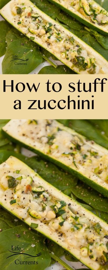 How to stuff a zucchini