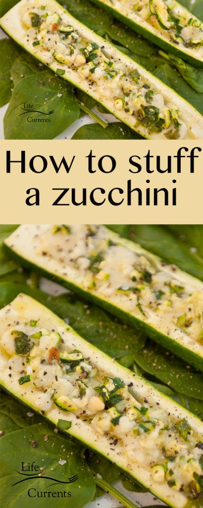 How to stuff a zucchini
