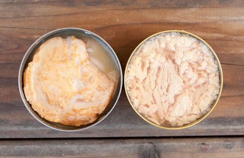 comparing tunas: Island Trollers Albacore Tuna Chowder, fresh and delicious!