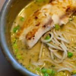 Thai Coconut Noodles with Pan Seared Tilapia