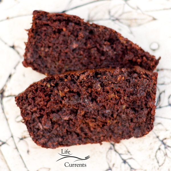 Chocolate Zucchini Cashew Quick Bread Using the cashew solids from my cashew milk