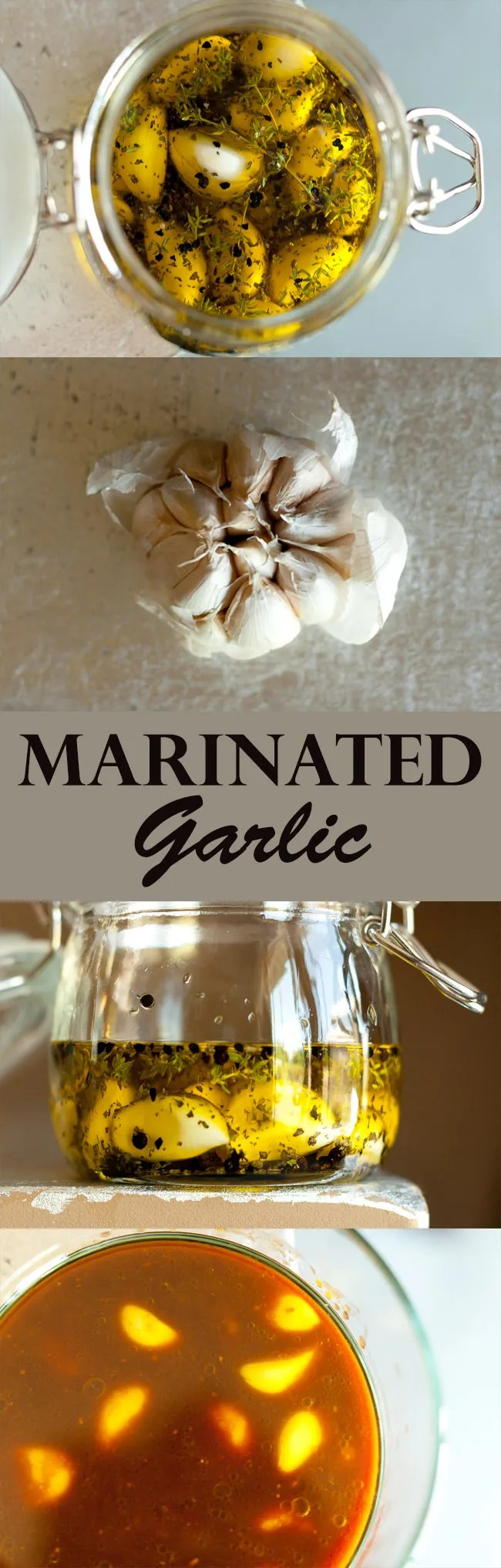 Marinated Garlic… two ways - Herb & Spice Marinated Garlic and Japanese-style Soy-Miso Marinated Garlic