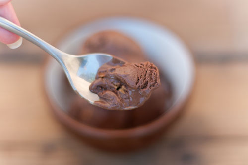 Dark Chocolate Truffle Ice Cream with Toasted Almonds