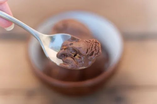 Dark Chocolate Truffle Ice Cream with Toasted Almonds