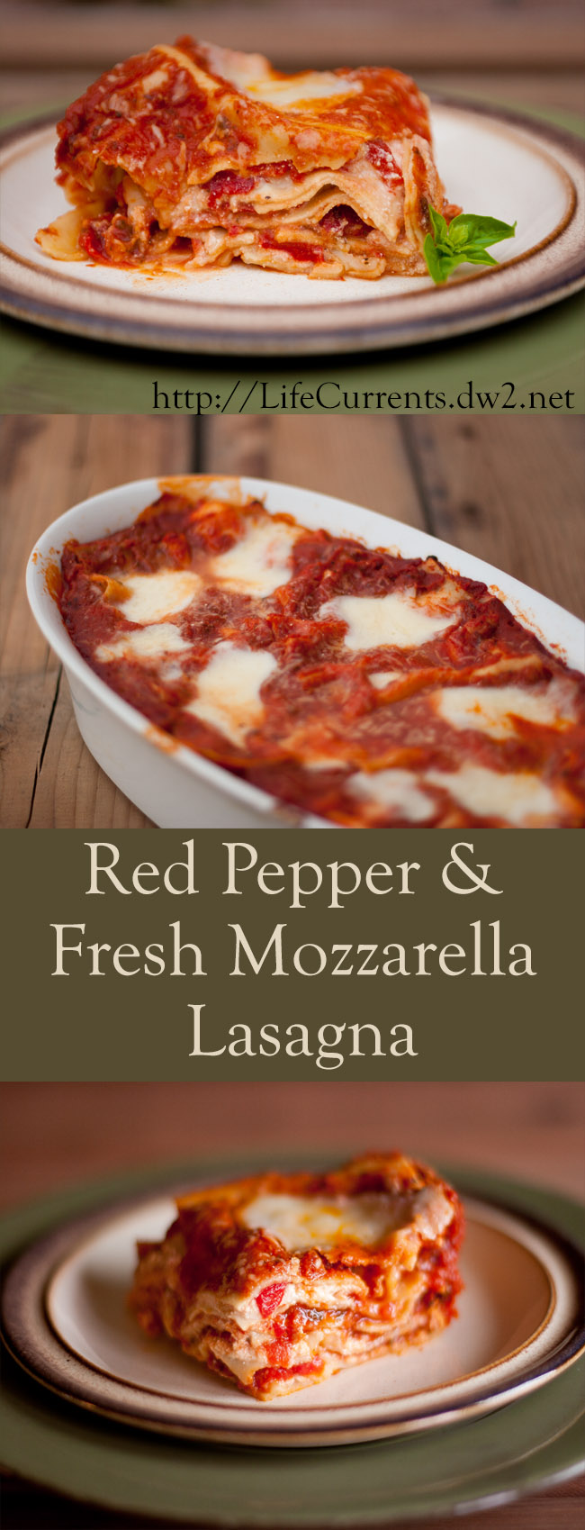Red Pepper and Fresh Mozzarella Lasagna Recipe