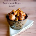 Veggies Baked in Apricot and Thyme Sauce is a great healthy side dish that's welcome on any family dinner table! Life Currents https://lifecurrentsblog.com
