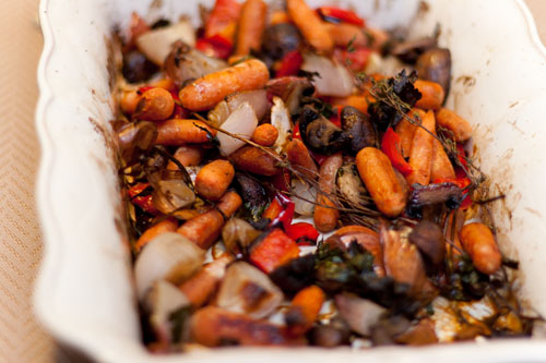 Vegetarian Roasted Vegetable Broth Recipe roasted veggies