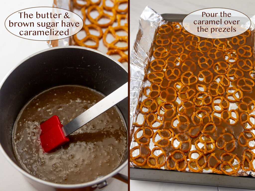 how to make toffee bark.