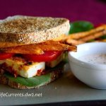 spicy crispy tofu sandwich