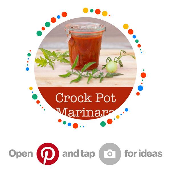 Homemade Crock Pot Marinara Sauce pincode Pinterest