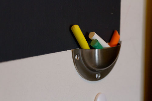 chalk holder: ironing board hangers: Broom Closet Makeover #organizing #organize #clean Life Currents