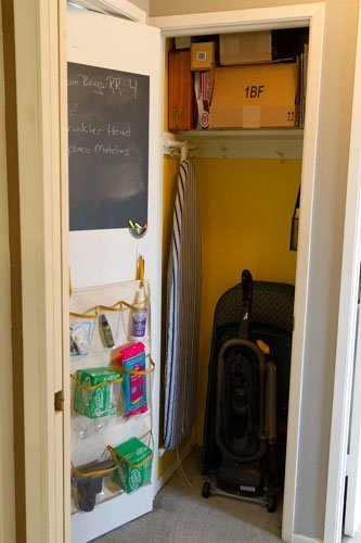 Broom Closet Makeover  #organizing #organize #clean Life Currents