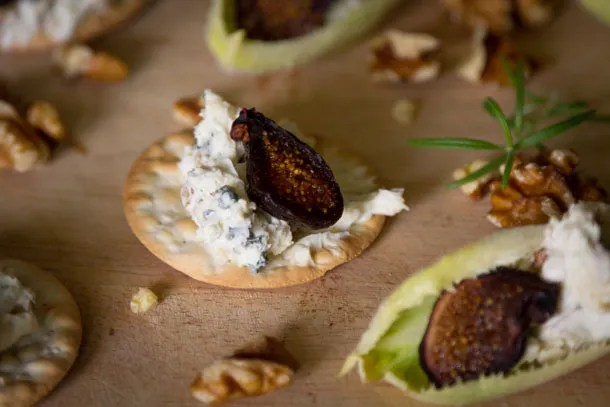 blue cheese and walnut spread: This Blue Cheese Spread is super yummy and really easy to whip together, your guests will think you're a genius. Serve it with crackers, endive, figs, honey, whatever you can come up with! #appetizer #snack #easy https://lifecurrentsblog.com